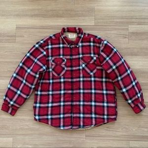 Wrangler Sherpa Lined Plaid Flannel Shirt Jacket